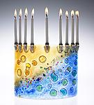 Art Glass Menorah by Joel and Candace  Bless