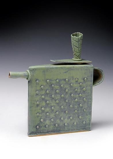 Cool Green Teapot - Ceramic Teapot - by Mary Obodzinski
