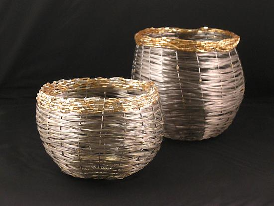 Spin Basket - Metal Basket - by Sally Prangley