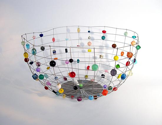 Large Stainless Steel Candy Basket - Metal Basket - by Sally Prangley