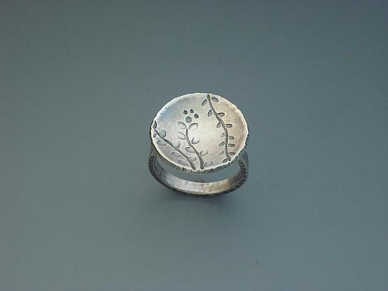 Echoes Circle Ring - Silver Ring - by Tavia Brown