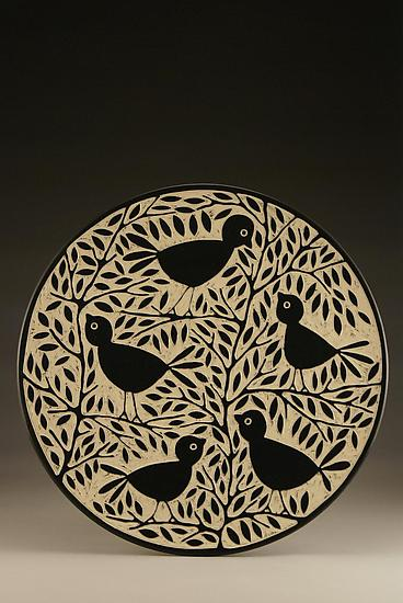 Blackbird Platter - Ceramic Platter - by Jennifer Falter