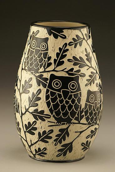 Owl Family Vase: Small - Ceramic Vase - by Jennifer Falter