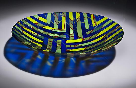 Reflections In A Pond - Art Glass Bowl - by Varda Avnisan