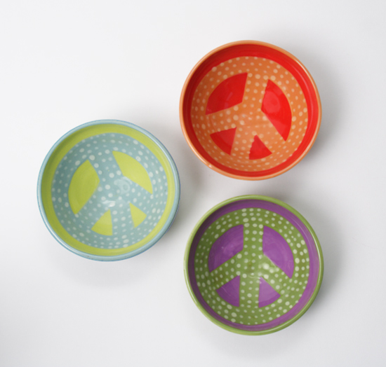 Peace Bowl - Ceramic Bowls - by Lacey Goodrich