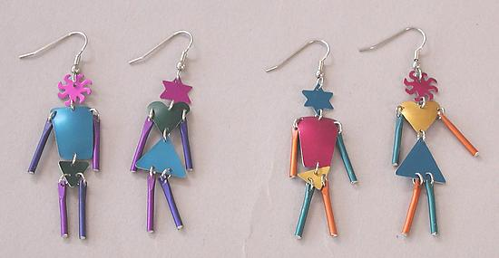 MW2 Earrings - Aluminum Earrings - by Sylvi Harwin