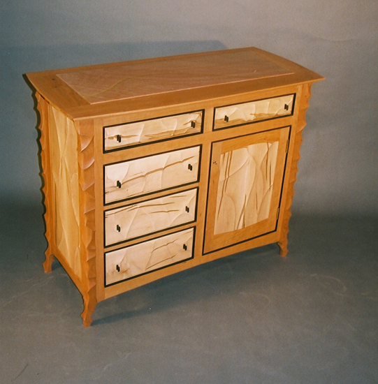 Cherry Console Cabinet - Wood Cabinet - by John Wesley Williams