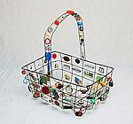 Metal Basket by Sally Prangley