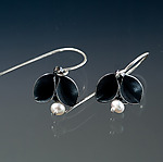 Silver & Pearl Earrings by Sadie Wang