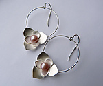 Silver & Pearl Earrings by Moira Lime