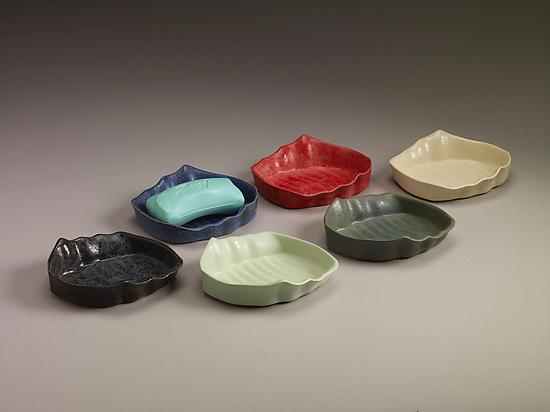 Soap Dishes - Ceramic Soap Dish - by Kaete Brittin Shaw