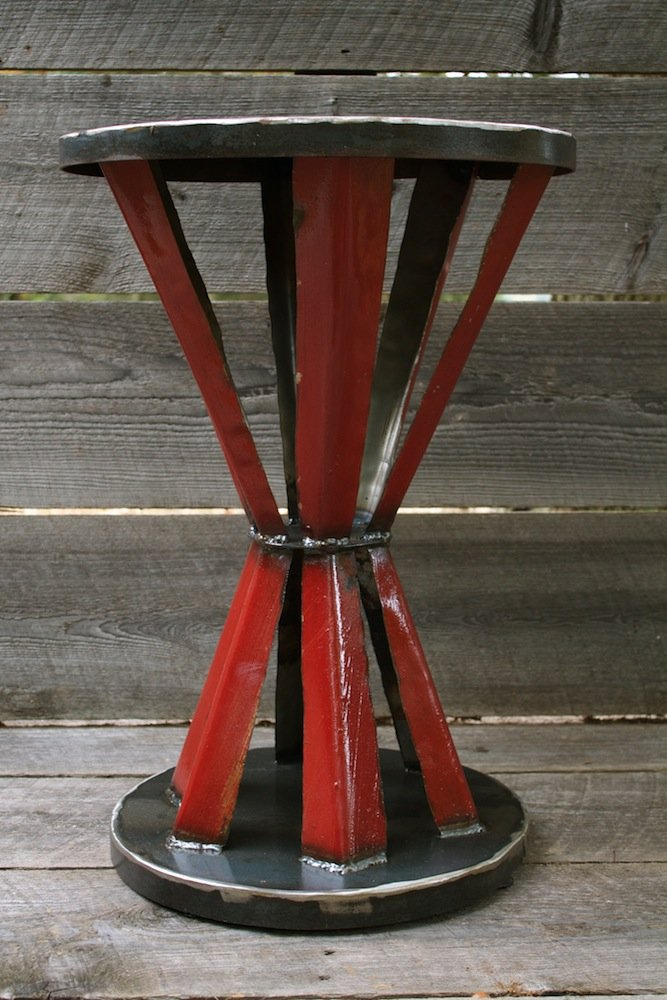 Steel Angle Table - Metal Side Table - by Ben Gatski