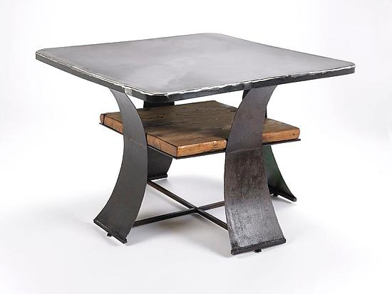 Steel and Barn Coffee Table - Metal Coffee Table - by Ben Gatski