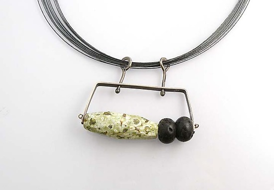 2 Climb with Royalite and Lava Rock - Silver & Stone Necklace - by Erica Stankwytch Bailey