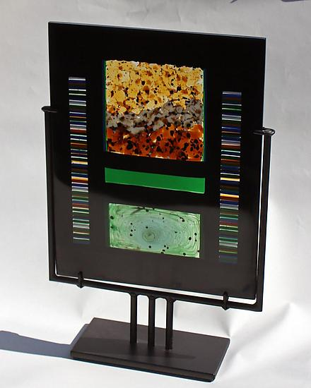 Desert Riverbed - Art Glass Sculpture - by Colleen Gyori