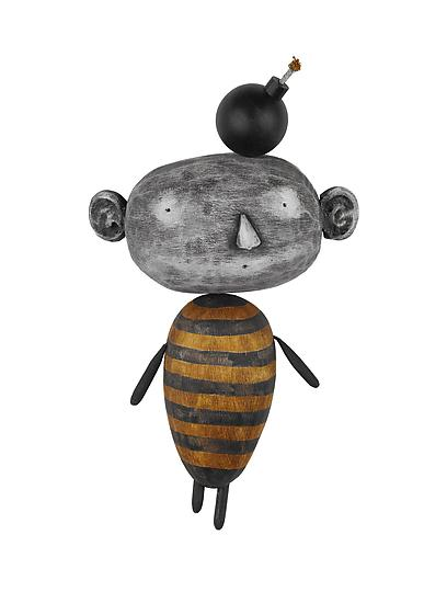 MoonBeE with Idea - Wood Wall Art - by Bruce Chapin