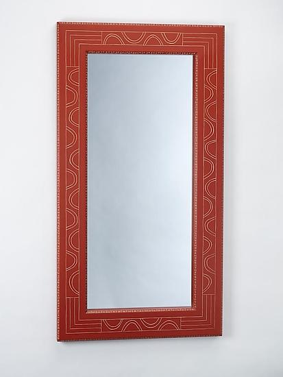 Red Seed Mirror - Wood Mirror - by Sylvie Rosenthal