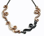 Metal & Stone Necklace by Shana Kroiz