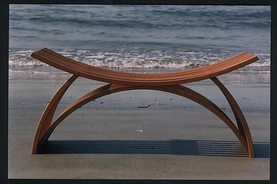 Bench No. 23 - Wood Bench - by Yokhai Givon