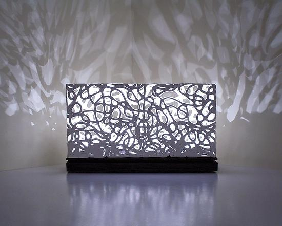 Horizontal Curls Luminaire - Ceramic Table Lamp - by Muhammad Moussa