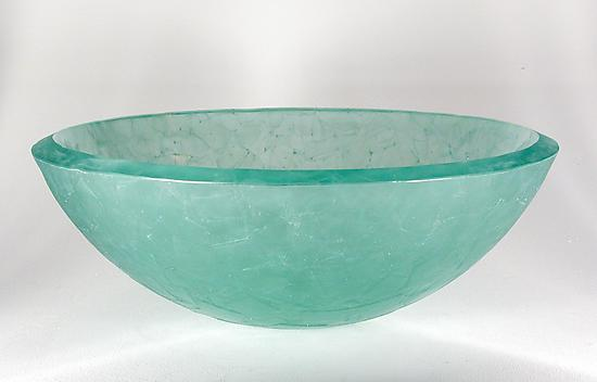 Square Segments Basin - Art Glass Sink - by George Scott