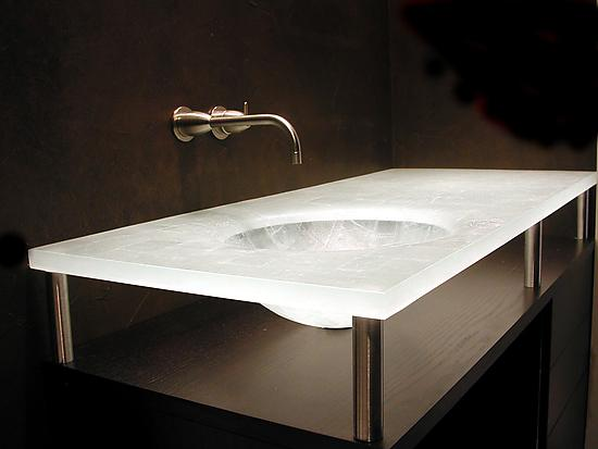 Integral Sectioned Sink - Art Glass Sink - by George Scott