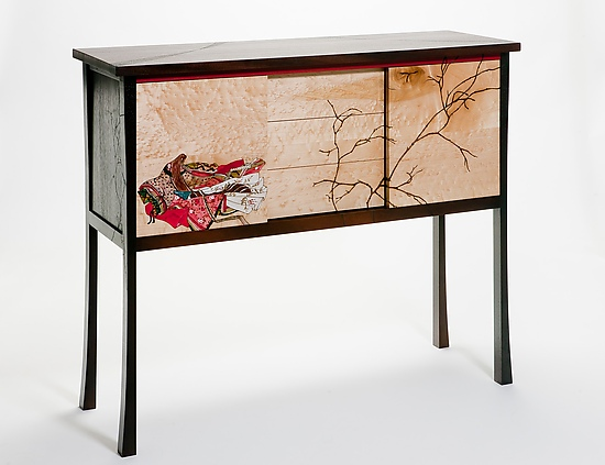 Shinto: Junihitoe - Wood Sideboard - by Alison Swann-Ingram and Carl Johnson