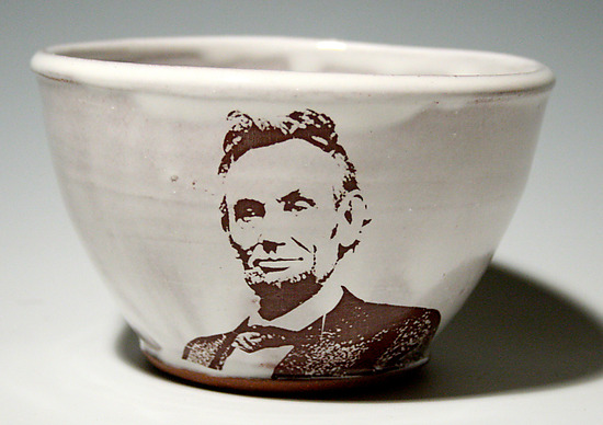 Abe Lincoln Bowl - Ceramic Bowl - by Justin Rothshank