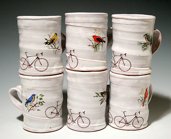 Bicycle Mug - Ceramic Mug - by Justin Rothshank