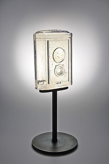 Kodak Brownie Reflex - Art Glass Sculpture - by Joshua Hershman