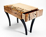 Wood Side Table by Alison Swann-Ingram