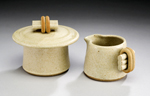 Ceramic Creamer & Sugar by Jan Schachter
