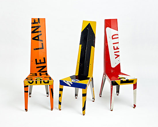 Transit Chair - Recycled Metal Chair - by Boris Bally