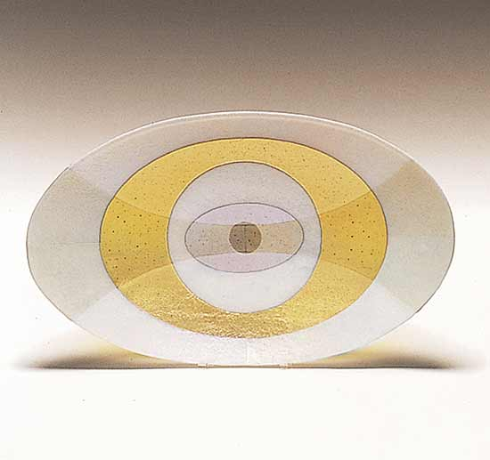 Spyware - Large Oval - Art Glass Platter - by Kathleen Ash