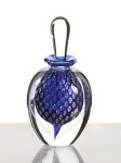 Art Glass Perfume Bottle by David New-Small