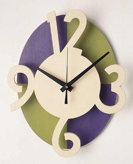 Wall Clock - Wooden Clock - by Emi Ozawa