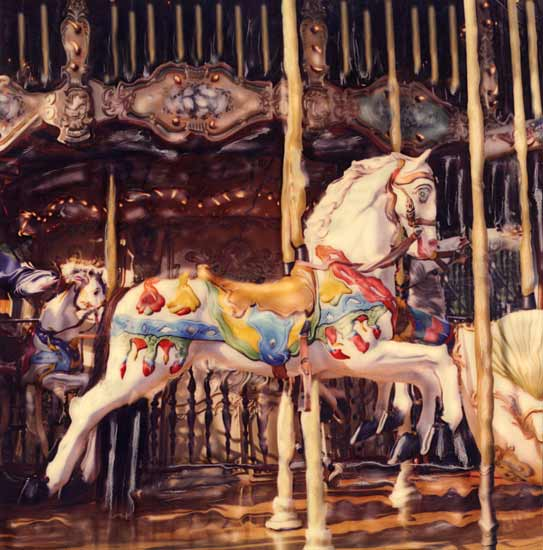 French Carousel - Color Photograph - by Julie Betts Testwuide