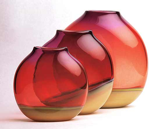 Desert Sands - Art Glass Vessel - by David New-Small