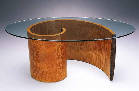 Spiral Coffee Table - Wood Coffee Table - by Richard Judd