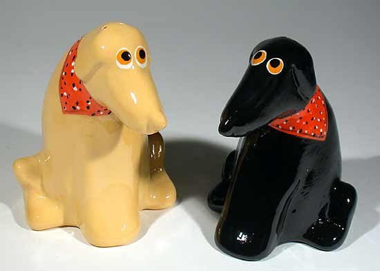 Lab Salt & Pepper Set - Ceramic Salt & Pepper Shakers - by Alison Palmer
