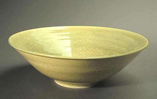 Celadon & White Fruit Bowl - Ceramic Bowl - by Amber Archer