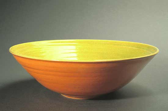 Lime & Orange Fruit Bowl - Ceramic Bowl - by Amber Archer