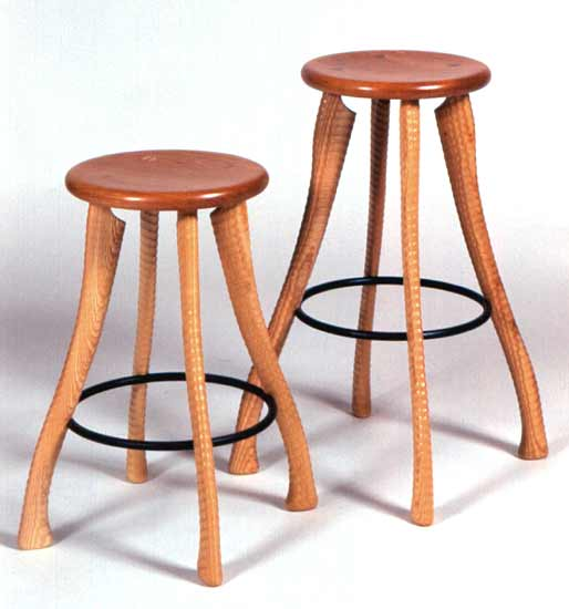 Ax Handle Stool - Wood Stool - by Brad Smith