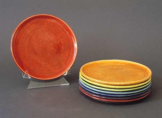Spectrum Stackers: Plates - Ceramic Plate Set - by Amber Archer