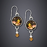 Silver & Citrine Earrings by Dawn Estrin