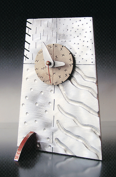'Tilt' Tech Tile Clock - Metal Clock - by Thomas Mann