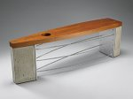 Wood, Concrete & Metal Bench by Peter Harrison