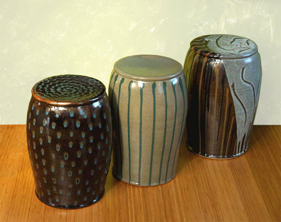 Garden Seats - Ceramic Stool - by Michael Jones