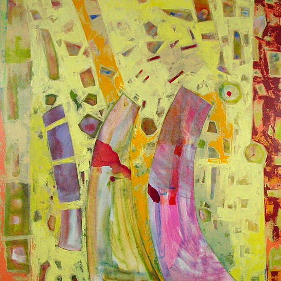 Abstract Diary, Yellow - Gicl&#233;e Print - by Chin Yuen
