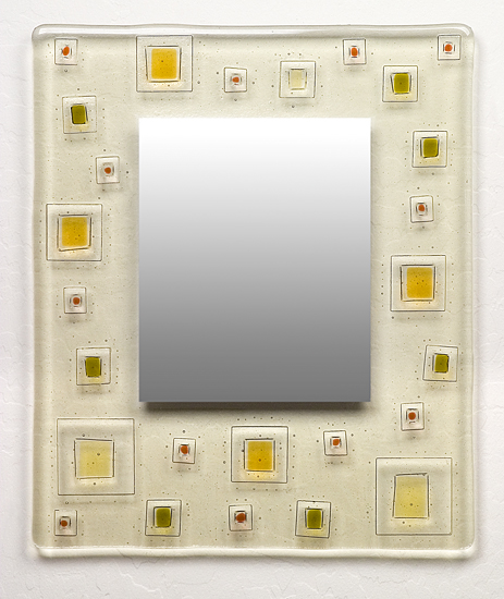 Random Order - Art Glass Mirror - by Richard Altman